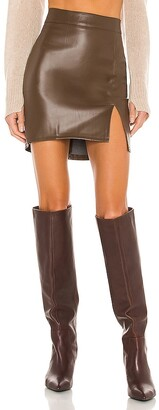 SNDYS Knox Faux Leather Skirt