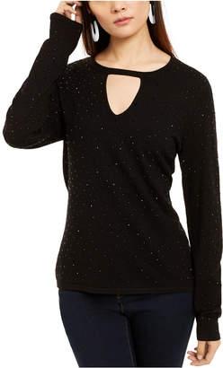 INC International Concepts Inc Embellished Keyhole Sweater