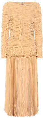 KHAITE Nanna silk-georgette midi dress