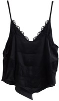 Free People Black Synthetic Tops