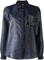 Class Roberto Cavalli embellished pocket shirt - women - Polyester/Polyamide - 40