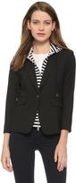 Veronica Beard Schoolboy Jacket with Striped Dickey