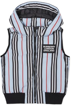Burberry Kids Icon Stripe Hooded Gilet (3-12 Years)