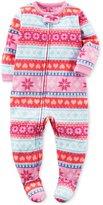 Carter's Baby Girls' 1-Piece Footed Fleece Pajamas Pj's T