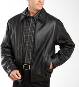 JCPenney Excelled Leather Excelled Nappa Leather Self-Elastic Bomber Jacket - Big & Tall
