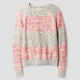 Cat & Jack Girls' Stripe Sweater Cat & Jack- Pink And Grey
