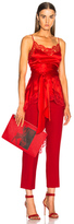Givenchy Asymmetric Hem Split Back Cami in Red.