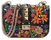 Valentino Glam Lock Small Leather Chain Crossbody.
