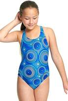 Zoggs Girls Cool Geo Rowlee Back One Piece
