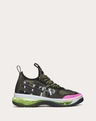 Valentino Garavani Uomo Vltn Cloud Sneaker In Camouflage Jacquard And Rubber Man Military Green 100% Materie Plastiche 40