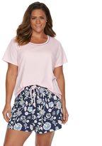 Jockey Plus Size Pajamas: Tee & Shorts PJ Set