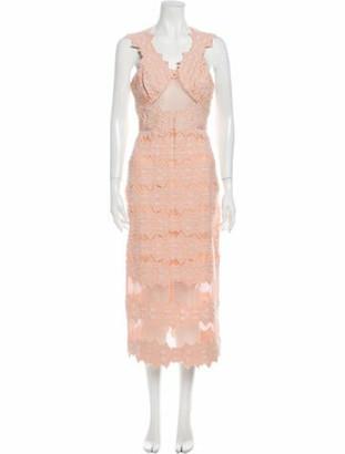 Jonathan Simkhai Lace Pattern Long Dress Pink