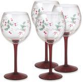 Pfaltzgraff Winterberry Set of 4 Wine Glasses