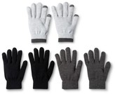 Mossimo Women's 3-Pack Tech Touch Gloves