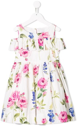 MonnaLisa Frilled Floral Dress