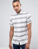 Solid Short Sleeved Shirt In Large Check