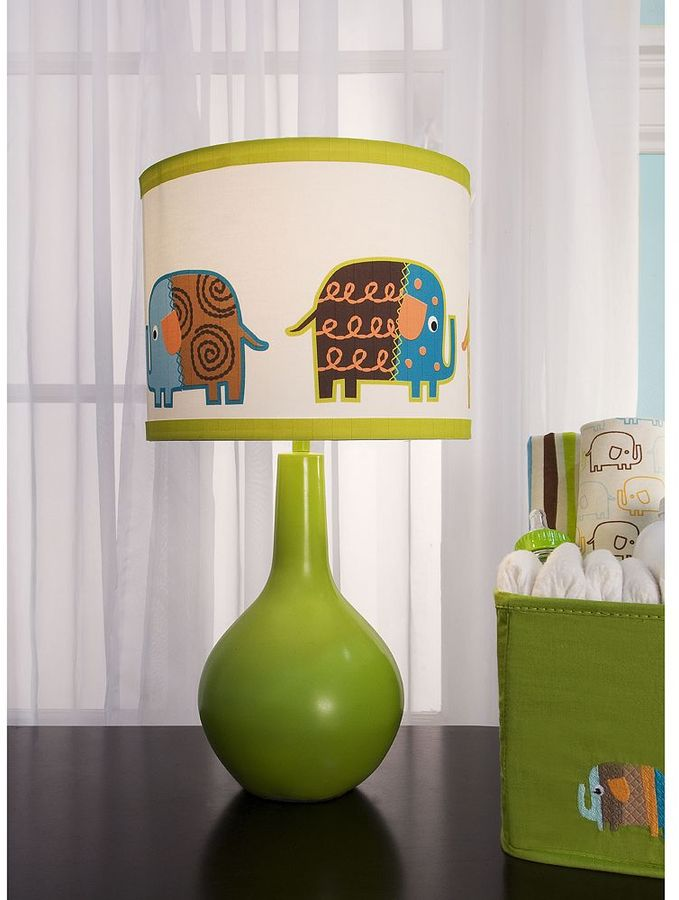 Zutano elephants lamp