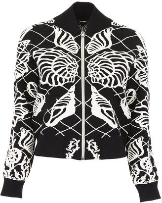 Alexander McQueen Leaf Print Bomber Jacket