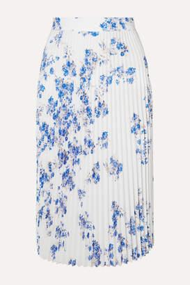 Vetements Floral-print Plisse-crepe Midi Skirt - White
