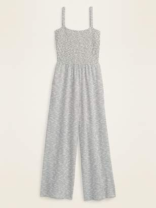 Old Navy Smocked-Top Textured-Stripe Cami Jumpsuit for Women