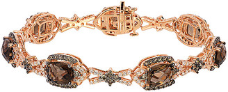 LeVian Le Vian 14K Rose Gold 11.85 Ct. Tw. Diamond & Chocolate Quartz Bracelet