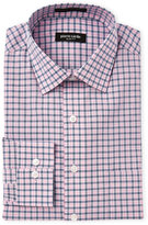 Pierre Cardin Pink & Blue Plaid Slim Fit Dress Shirt