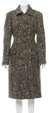 Piazza Sempione Double-Breasted Bouclé Coat
