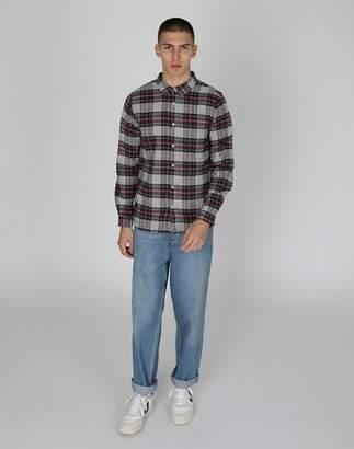 The Idle Man - Tartan Flannel Check Shirt Grey