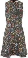 Warehouse Wild Garden Jacquard Dress