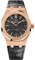 Audemars Piguet Royal Oak 15450OR.OO.D002CR.01 18K Pink Gold / Leather 37mm Mens Watch