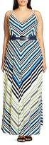 City Chic Super Stripe Maxi Dress