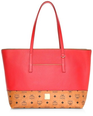 MCM Wilder Leather Shopper