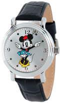 Disney Princess Disney Minnie Mouse Womens Black Leather Strap Watch-W001873