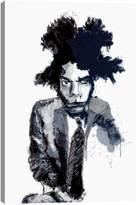 iCanvas Basquiat Portrait by Inkycubans (Giclee Canvas)