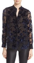 Alice + Olivia Women's 'Belle' Oversize Embroidered Chiffon Tunic