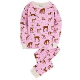 Hatley Girl's Classic Pajama Set - Deer