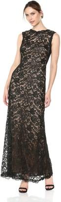 Tadashi Shoji Women's Sleeveless Allover lace Gown