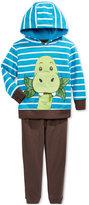 Nannette 2-Pc. Striped Dino Hoodie & Pants Set, Baby Boys'