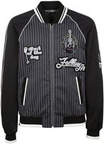 Dolce & Gabbana Musical Patch Striped Bomber