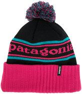 Patagonia logo pom pom beanie
