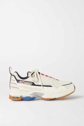 Reebok Dmx6 Mmi Mesh, Leather And Nubuck Sneakers - Off-white