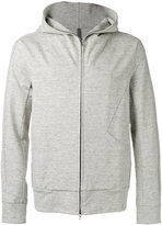 Attachment seamed zip hoodie - men - Cotton/Linen/Flax/Polyurethane - III