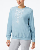Alfred Dunner Petite Northern Lights Embellished Knit Top