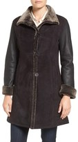 Blue Duck Petite Women's Fitted Genuine Shearling Coat