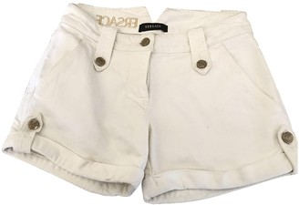 Versace White Cotton Shorts for Women