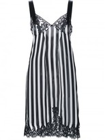 Givenchy lace panel striped cocktail dress