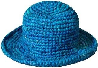 Brunna.Co Kirana Raffia Boater Hat, In Tropical Blue