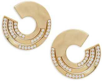 Ippolita Senso 18K Yellow Gold Diamond Disc Hoop Earrings