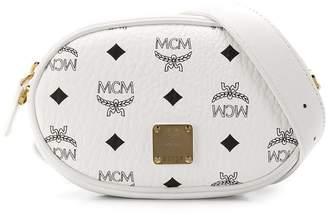 MCM white logo belt bag
