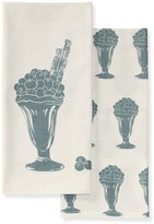 Williams-Sonoma Ice Cream Towels, Set of 2, Blueberries